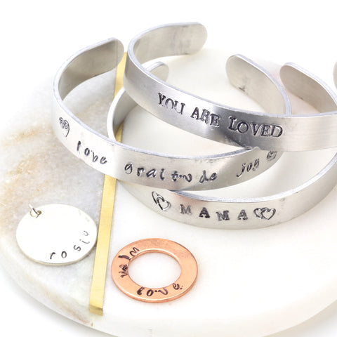 Hand stamped silver jewellery course at the London Jewellery School