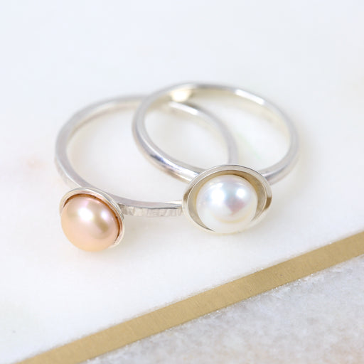 Make a Silver Pearl Ring