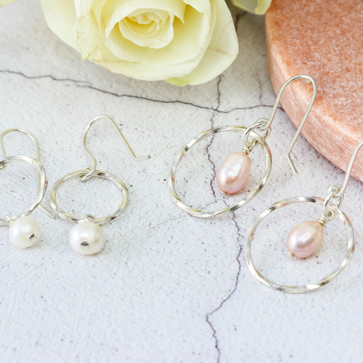 Make a pair of Silver Pearl Earrings