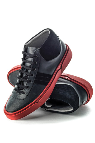 Annecy (Black/Red) w/ Red Luxe Sole
