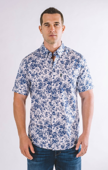 Bryant Button-down Short Sleeve Shirt (Ice White)