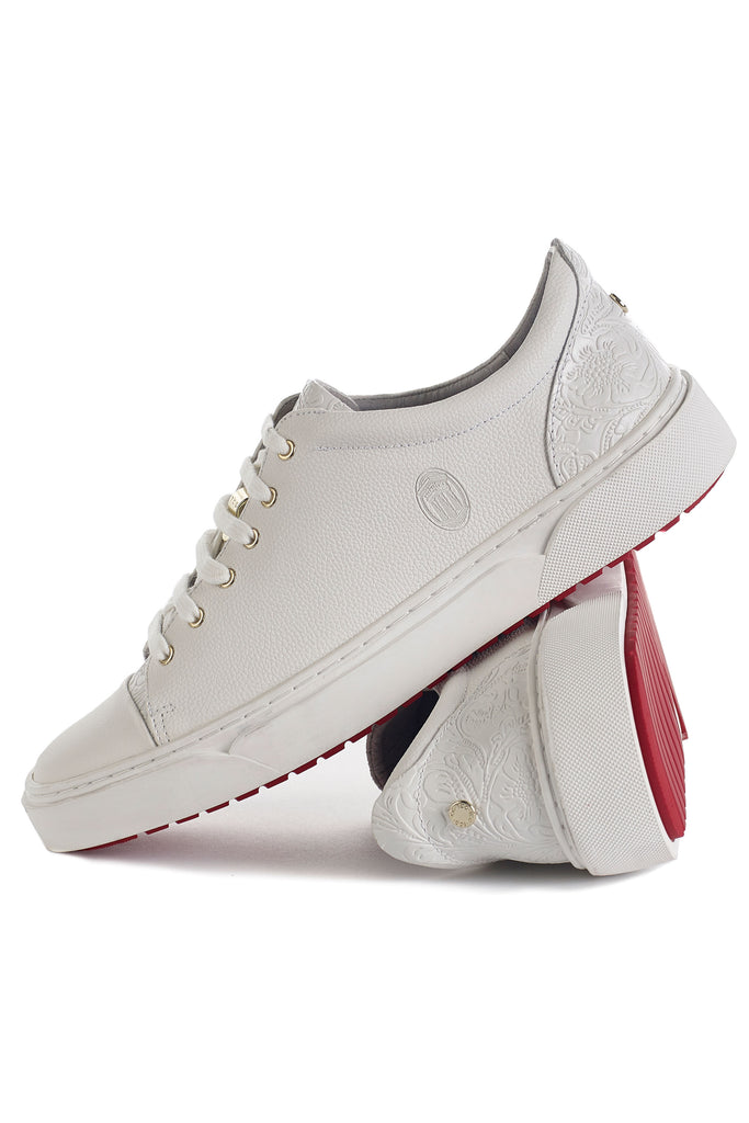 Creuzot (Ivory) w/ Red Luxe Sole