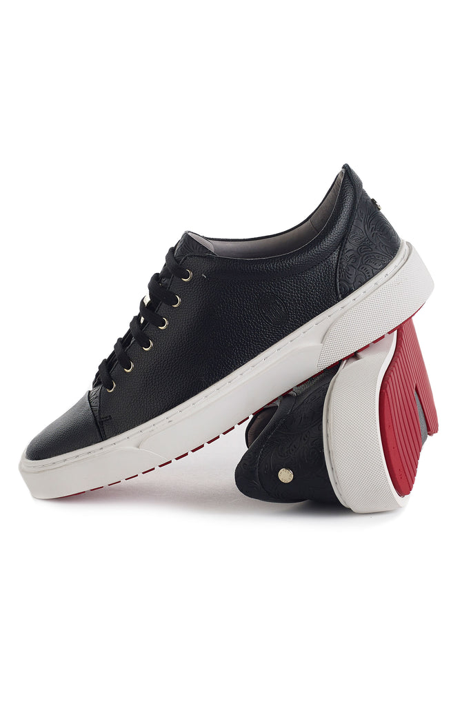 Creuzot (Ebony) w/ Red Luxe Sole