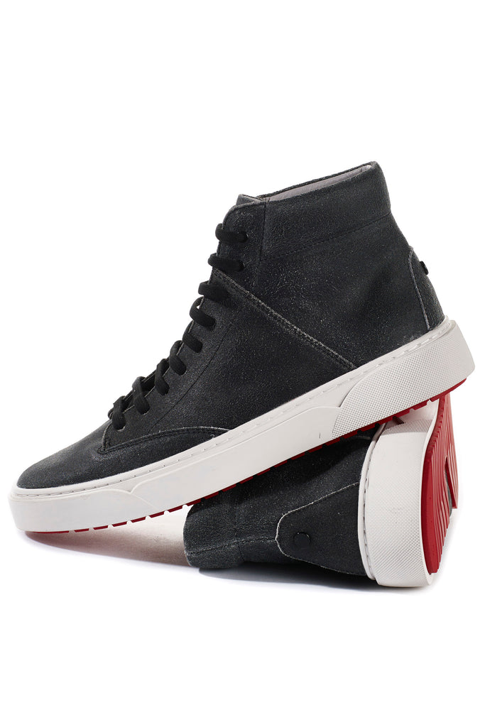 Culver (Cracked Black) w/Red Luxe Sole