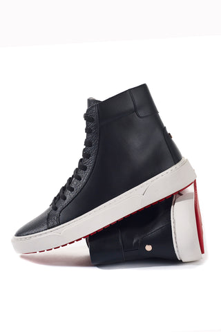 Hunter (Black) w/Red Bottoms