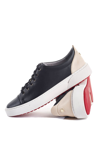 Creuzot (Black) w/Red Luxe Sole