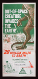 20 Million Miles to Earth Australian daybill 1957 Harryhausen