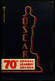 70th Annual Academy Awards one sheet 1998 Oscars