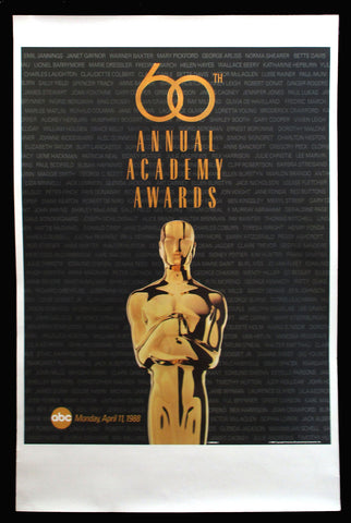 60th Annual Academy Awards poster 1988