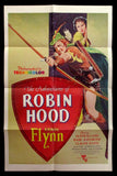 The Adventures of Robin Hood one sheet Errol Flynn