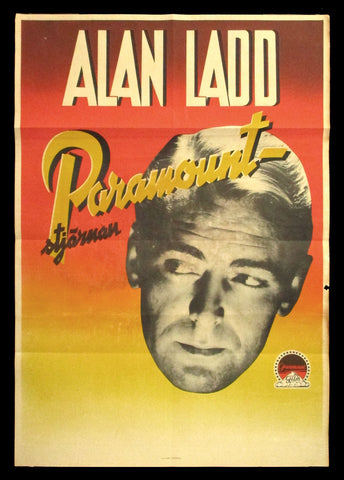 Alad Ladd stock one sheet 1940s