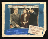 Angels With Dirty Faces lobby card Ann Sheridan James Cagney Pat O'Brien