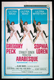 Arabesque one sheet 1966 Sophia Loren Gregory Peck Robert McGinnis