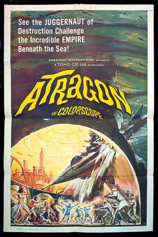 Atragon one sheet 1965 Toho sci-fi
