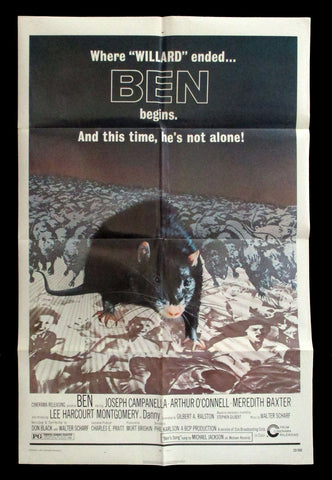 Ben one-sheet 1972 horror