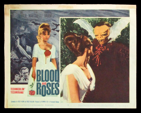 Blood and Roses lobby card 1961 horror