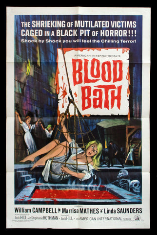 Blood Bath one sheet 1966 AIP horror