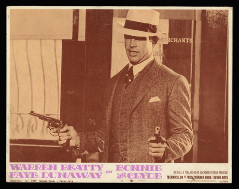 Bonnie and Clyde lobby card Warren Beatty