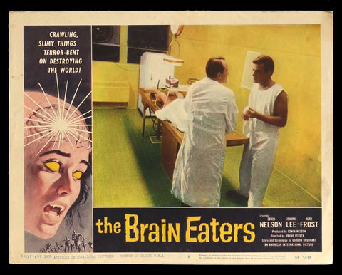 The Brain Eaters lobby card 3 AIP sci-fi horror 1958