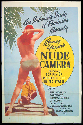 Bunny Yeager's Nude Camera one sheet 1963 pinup Bettie Page