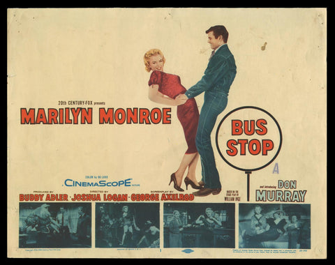 Bus Stop title lobby card 1956 Marilyn Monroe