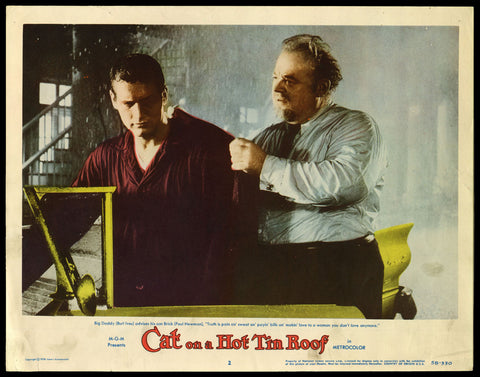 Cat on a Hot Tin Roof lobby card Paul Newman