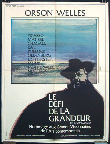 The Challenge French poster Orson Welles