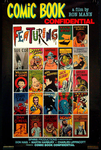 Comic Book Confidential US one-sheet movie poster