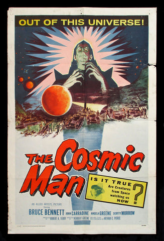 The Cosmic Man one sheet 1959 sci-fi