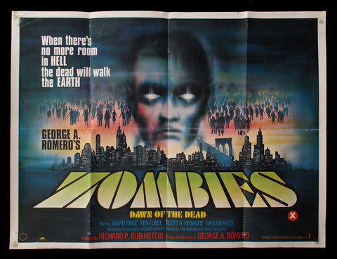 Dawn of the Dead UK quad 1978 George A. Romero zombies