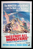 Destroy All Monsters one sheet 1969 Toho monsters
