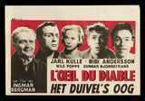 The Devil's Eye Belgian movie poster 1960