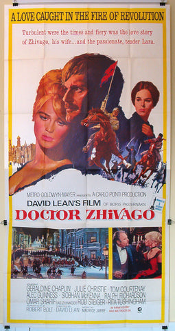 Doctor Zhivago three sheet David Lean 1965
