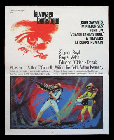 Fantastic Voyage French movie poster Raquel Welch