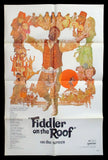 Fiddler on the Roof one sheet 1971