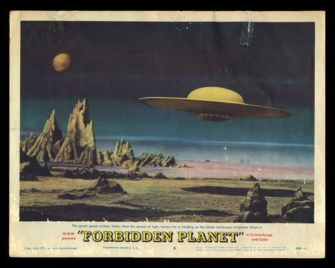 Forbidden Planet lobby card 1956