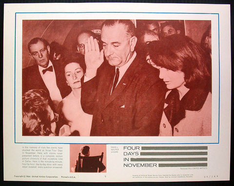 Four Days in November lobby card JFK assassination
