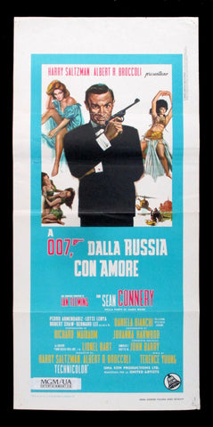 From Russia With Love Italian movie poster James Bond 007