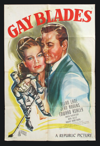 Gay Blades one sheet 1946 hockey movie