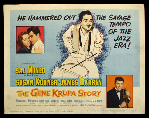 The Gene Krupa Story title card 1960 Sal Mineo