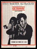 The Getaway French poster Steve McQueen