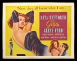 Gilda title card Rita Hayworth film noir