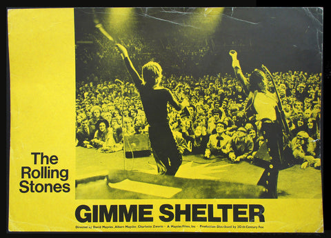 Gimme Shelter lobby card 1971 The Rolling Stones 4