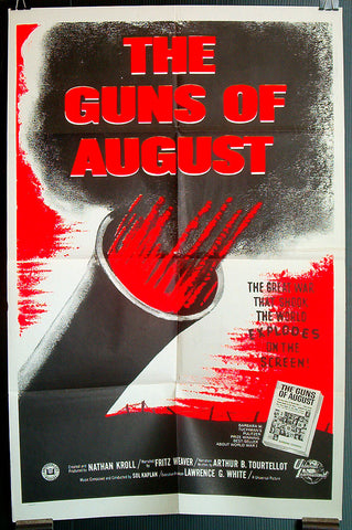 Guns of August 1960 US one sheet WWI