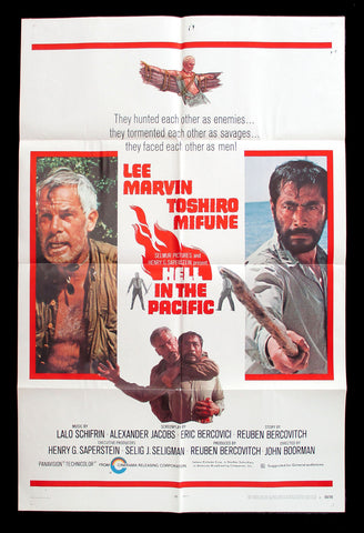 Hell In The Pacific Style B one sheet 1969 Lee Marvin