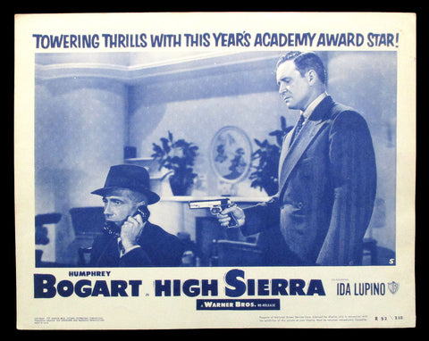 High Sierra lobby card 1952 re-release Bogart