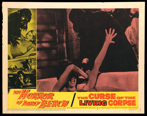 Horror of Party Beach Curse of the Living Corpse lobby card 1964 attack