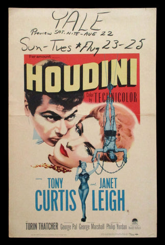 Houdini window card 1953