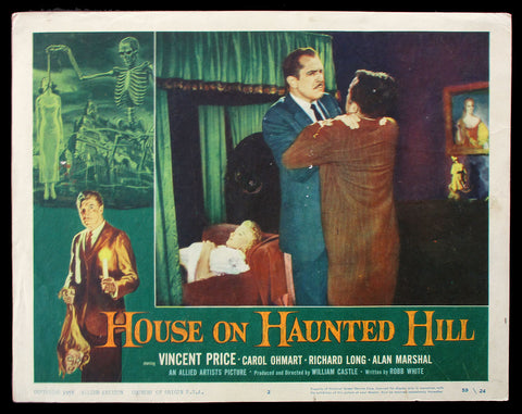House On Haunted Hill lobby card 1959 Vincent Price