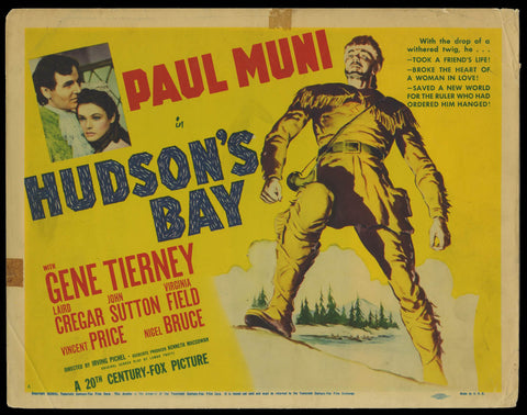 Hudson's Bay title card 1940 Paul Muni